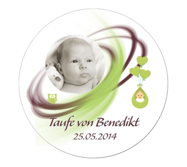 Taufe tortenaufleger mit name und foto 20cm esspapier sweetest perfection shop - Kuchendeko foto ...