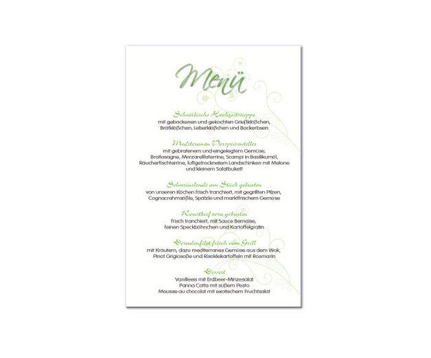Menuekarten Esspapier 4 Din A6 Hochzeit Taufe Esspapier
